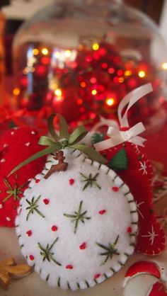 Felt Ball Christmas Ornament