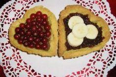 crostatine nutella e ribes e marmellata di ciliegie e banana