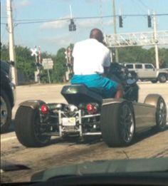 #NBA #AirJordan Michael Jordan Riding His T-Rex Motorcycle In Florida