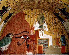Tomb of Pashedu. Located in the necropolis of Deir el-Medina on the West Bank at Luxor (ancient Thebes). Ancient Egypt Art, Ancient History, Art History, Fresco, Papyrus, Kairo, Chef D Oeuvre, African American Art, Luxor Egypt