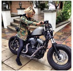 Motorcycle Girl with 48