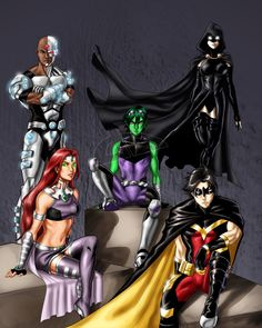 Titans Together by DavidFernandezArt.deviantart.com on @deviantART