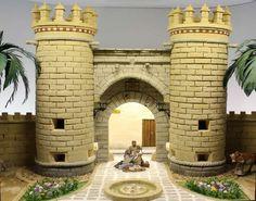 Asociación de Belenistas de Badajoz - Dioramas 2016-2017 Terrain 40k, Christmas Crib Ideas, Bg Design, Medieval, Christmas Nativity Scene, Fantasy Castle, Ceramic Houses, Miniature Houses, Fairy Houses