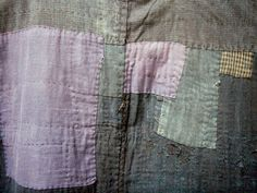 hellosmitten:    patched fabric from Gabriel's 19th century Japanese boro kimono