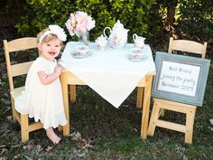 Big sister announcement tea party