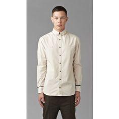 Plain Cream Long Sleeve Shirt