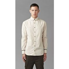 Plain Cream Long Sleeve Shirt