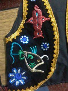 El primer chaleco que hice. Para mi y fansarle a la virgen en La Tirana.