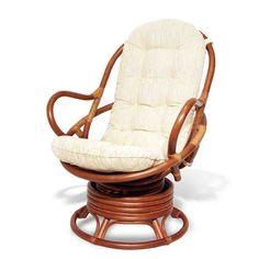 Java Lounge Swivel Rocking Chair with Cream Cushion Natural Rattan Wicker Handmade, Colonial Rattan Chair Cushions, Rattan Rocking Chair, Swivel Rocker Chair, Papasan Chair, Swinging Chair, Seat Cushions, Papasan Cushion, Sofa Chair, Luxury Chairs