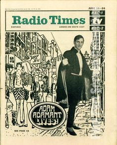 RADIO TIMES 1966. Adam Adamant - Gerald Harper - The Paul Pert Screen Collection