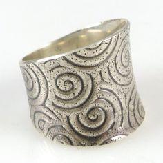 Stamped Saddle Ring
