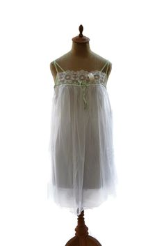 Vintage Formfit Rogers Double Layer Nylon Nightgown Negligee White New Old  Stock  FormfitRogers  Slipornightgown e0a89b919