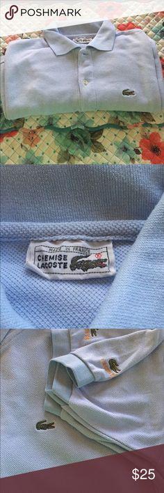 Lacoste polo shirt Light blue Lacoste polo shirt in euc. Lacoste Shirts Polos