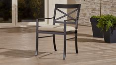 "Regent Dining Chair with Sunbrella ® Cushion | Crate and Barrel Width: 22""  Depth: 25""  Height: 33"""