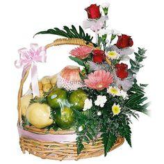 Gift Basket  A lot of best quality local fruit arrange in basket.