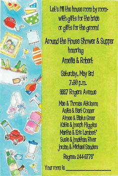 Home & Gardern Bridal Shower Invitations, Couple House Shower Couples Wedding Shower Invitations, Birthday Party Invitations, Baby Shower Invitations, Bridal Shower Party, Bridal Showers, Couple Shower, Housewarming Party, Party Entertainment, Bride Gifts