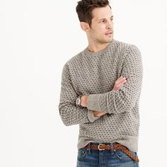 This handsome snowflake sweater is woven with a special technique called jacquard, which means that the pattern is woven directly into the fabric, resulting in not only a better-looking sweater but one with a cool texture as well. <ul><li>Lambswool.</li><li>Dry clean.</li><li>Import.</li></ul>