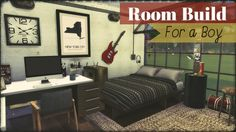 Room Build for a Boy at Dinha Gamer via Sims 4 Updates