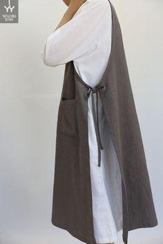 Women Retro Cotton Sleeveless Pockets Side Split Pinafore Dress – Linen Dresses For Women Sewing Aprons, Sewing Clothes, Side Split Dress, Look Retro, Apron Dress, Pinafore Dress, Linen Dresses, Dresses Dresses, Dance Dresses