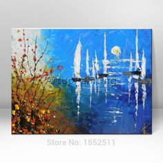 Find More Painting & Calligraphy Information about Hand painted abstract oil painting boat ship sailing canvas oil paintings Wall art Pictures for living room modern wallpaper 5,High Quality painting christmas pictures,China picture artist painting Suppliers, Cheap picture abstract painting from ArtupPainting on Aliexpress.com