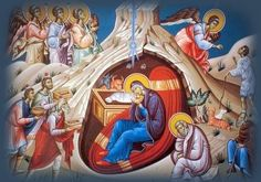 Chanted by Greek Byzantine Choir MAKRIS The entire Canon (All Odes) which are chanted during the Christmas Service in the Greek Orthodox Church. (Christ is B. Rosary Novena, Byzantine Icons, Orthodox Icons, Ancient Aliens, Sacred Art, A Christmas Story, Painting, 28 December, July 14