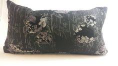Chinoiserie lumbar cushions   https://www.etsy.com/ca/listing/253803458/black-and-mauve-chinoiserie-lumbar