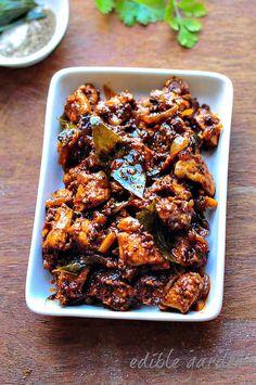 Chettinad Pepper Chicken Masala - Spicy Pepper Chicken Recipe