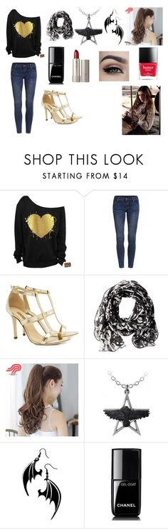 """""""Demetria Outfit"""" by madhura-datar on Polyvore featuring Dee Keller, Calvin Klein, Pin Show, Ilia, Chanel and MACBETH"""
