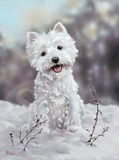 The Snowman, Westie Christmas card