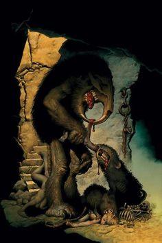 31 Creepy, Scary & Unsettling Horror Comic Covers for a Final Halloween Treat Bd Comics, Horror Comics, Monster Design, Monster Art, Arte Horror, Horror Art, Dark Fantasy Art, Dark Art, Creepy Art