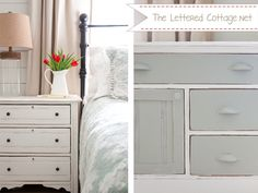 Awww...the nightstands I painted for sweet Miss Layla.