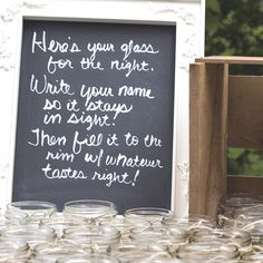 Very cute idea. Using Mason Jars as well, could also tie this to Wine Glasses?