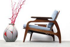 Super 50er Armchair Sessel hellblau, neu bezogen von silent-cube auf DaWanda.com