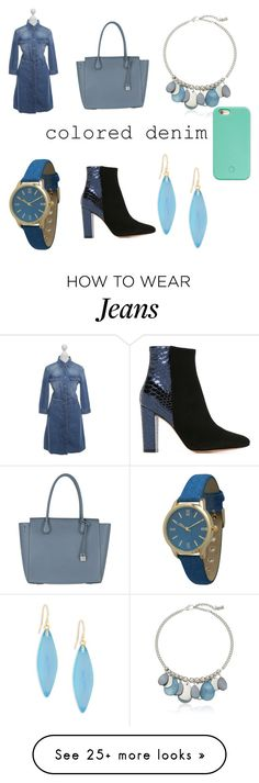 """Blue jeans"" by the-beliver-in-you on Polyvore featuring 7 For All Mankind, MICHAEL Michael Kors, Kenneth Cole, Olivia Pratt, Jean-Michel Cazabat, Forever 21 and Alexis Bittar"
