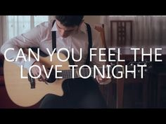 ▶ Can You Feel The Love Tonight - The Lion King (fingerstyle guitar cover by Peter Gergely) - YouTube