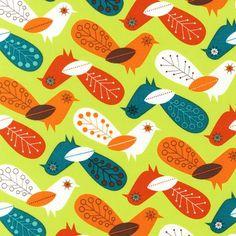 SALE Critter Community Fabric by Suzy Ultman for Robert Kaufman, Critter Birds in Retro-Fat Quarter. $2.50, via Etsy.