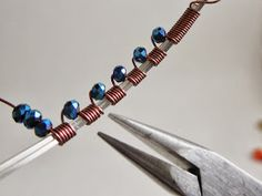 Dawn Blair's Jewelry and Eclectica Blog: Intro to Wire Wrapping: Adding beads to a simple design.