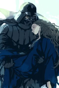 Vader and Padme   (it feels like vader is having dream of her... which hurts even more)