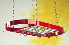 The Gourmet Oval Kitchen Pot Rack with Grid