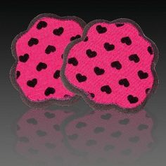 """Foot Petals Tip Toes - Pink with Black Hearts by Foot Petals. $5.01. Eliminate """"toe scrunch"""" & """"ugly overhang"""". Protect bones and tissue and cushion the ball-of-foot. Virtually invisible. Stop feet from sliding forward. Tip Toes are made from PORON performance urethanes, which help prevent calluses from forming, protect bones and tissue, and cushion the sensitive ball-of-foot area."""