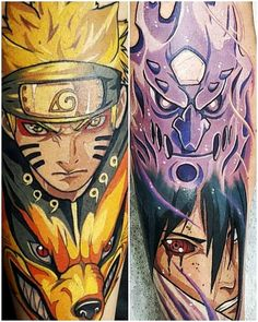 Naruto tattoos ideas and meanings; anime and comics are an essential part of the lives of many people. Kurama Susanoo, Naruto Vs Sasuke, Naruto Art, Anime Naruto, Boruto, Naruto Tattoo, Anime Tattoos, One Piece Tattoos, Body Art Tattoos