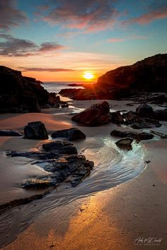 Newburgh Beach during Sunrise in Scotland.