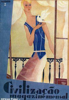 Civilização, No. 2, August 1928. Art by Bernardo Marques,