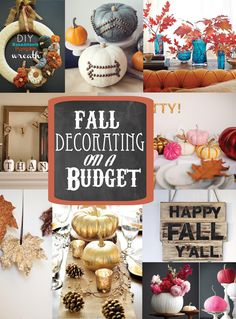 DIY Fall Decorating on a budget - Soho Sonnet Creative living