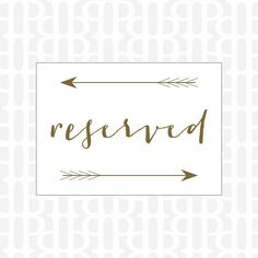 Hey, I found this really awesome Etsy listing at https://www.etsy.com/listing/168135293/reserved-sign-wedding-reception-signage