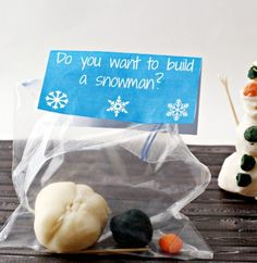 Frozen Olaf Playdough Party Favors