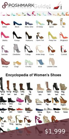 Shoe style and heel guides Shoe style and heel guides to help you name that style you love and aid in your search! Like this listing to use as a reference tool or use it to bookmark my closet. Dress Design Sketches, Fashion Design Drawings, Fashion Sketches, Indian Fashion Dresses, Girls Fashion Clothes, Fashion Terminology, Fashion Infographic, Fashion Words, Fashion Dictionary
