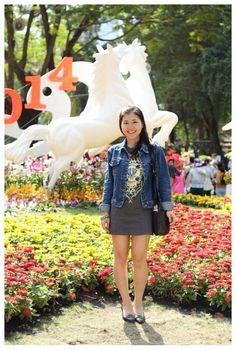 Short dress and jean coat =)