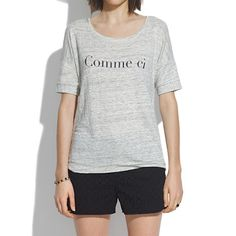 chic and comfy linen tee for busy commute