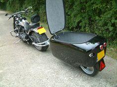 Dog Trailer, Off Road Trailer, Motorcycle Trailer, Motorcycle Camping, Small Motorcycles, Cargo Bike, Bike Parts, Sidecar, Custom Bikes